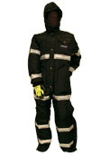 Increased Visibility Coveralls with Hood